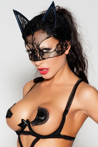 Черная эротическая маска Me Seduce Mk04 - фото 1