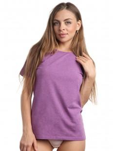 Классическая женская футболка из хлопка сиреневого цвета