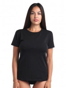 Классическая женская футболка из хлопка черного цвета
