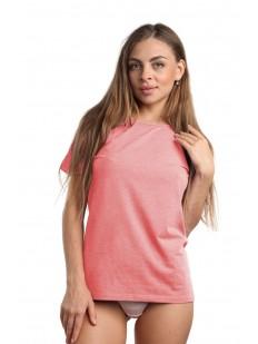 Классическая женская футболка из хлопка персикового цвета