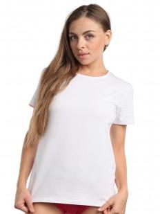 Классическая женская футболка из хлопка белого цвета