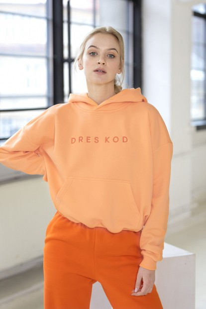 Светло-оранжевое женское худи Dreskod DK08 17 - фото 1
