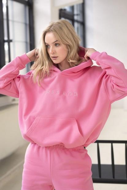 Розовое женское худи Dreskod DK08 23 - фото 1