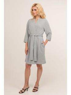 Женский голубой трикотажный халат из вискозы с карманами