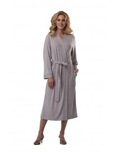 Длинный женский домашний халат из вискозы