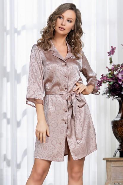Атласный женский халат на пуговицах Mia-Amore MARGARET 8977 - фото 1