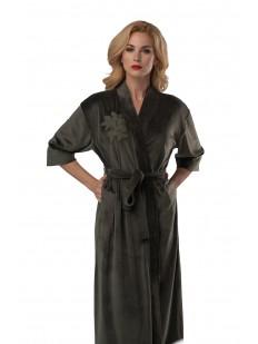 Женский теплый длинный халат с карманами