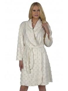Женский хлопковый махровый халат с длинным рукавом
