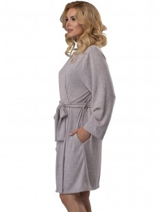 Короткий женский домашний халат из вискозы