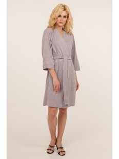 Женский сиреневый трикотажный халат из вискозы с карманами