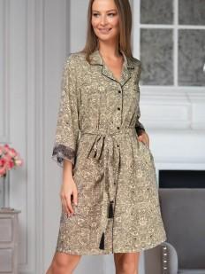 Домашний женский халат из вискозы на пуговицах