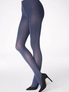 Синие колготки 100 DEN с эффектом шелкового блеска