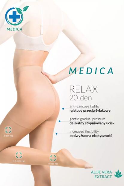Антиварикозные телесные колготки Gabriella 110 MEDICA RELAX 20 den - фото 1