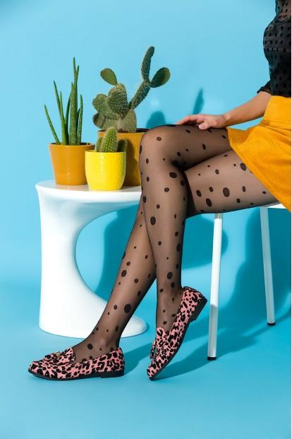 Фантазийные женские колготки 20 ден в горошек Gabriella GINY - фото 1
