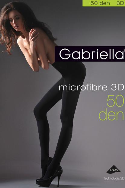 Классические черные колготки из микрофибры 50 ден Gabriella 120 MICROFIBRE 3D - фото 1