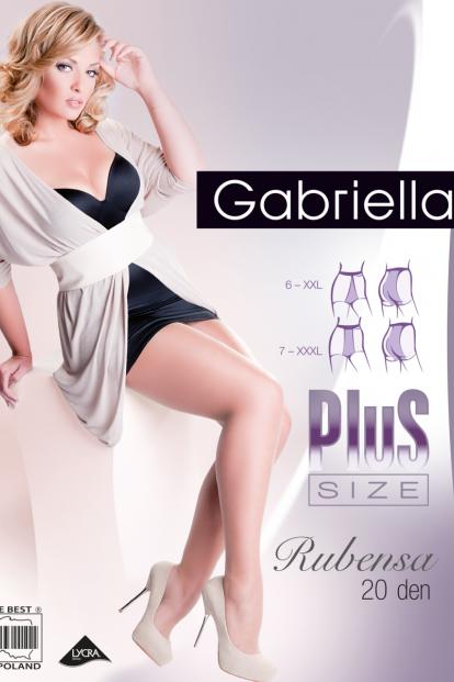 Классические черные колготки больших размеров Gabriella 161 Plus Size RUBENSA 20 - фото 1