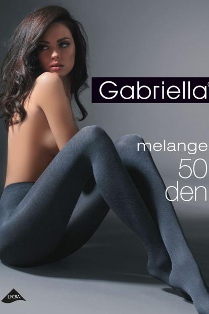 Серые женские колготки меланж Gabriella 130 MELANGE 50 den - фото 1