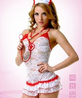Женский эротический костюм медсестры для ролевых игр