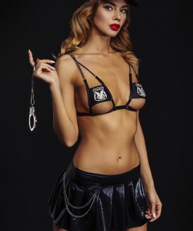 Женский эротический костюм полицейского с кепкой