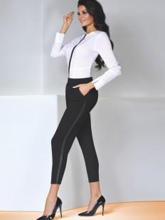 Черные женские брюки леггинсы укроченные