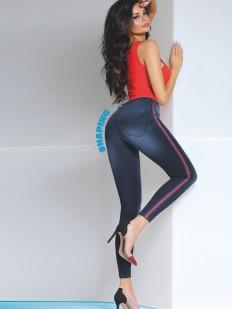 Женские моделирующие брюки леггинсы джинсовые из вискозы