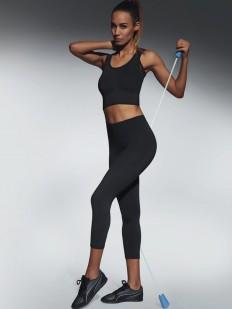 Спортивные женские легинсы капри для фитнеса черные