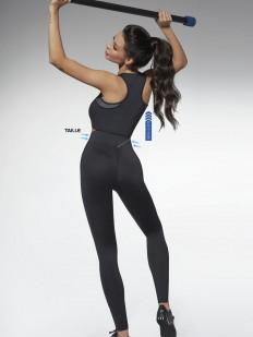 Спортивные черные леггинсы для фитнеса с высокой посадкой