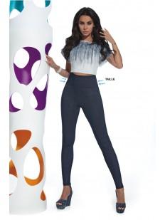 Женские джинсовые брюки леггинсы в высокой посадкой и утяжкой