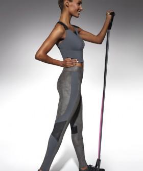 Спортивные женские леггинсы для фитнеса с геометрическим рисунком