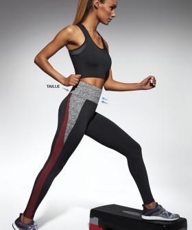Высокие спортивные женские леггинсы для фитнеса цветные