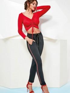 Женские бархатные брюки леггинсы на кулиске