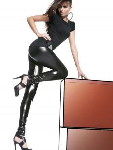Женские кожаные легинсы из эластичного латекса