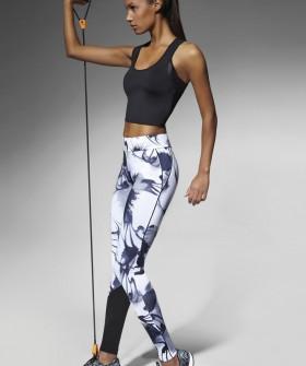 Спортивные легинсы для фитнеса с цветным принтом