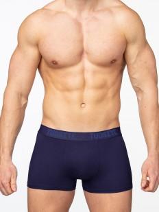 Синие мужские трусы боксеры из вискозы без боковых швов