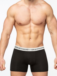 Мужские удлиненные трусы боксеры из хлопка черного цвета