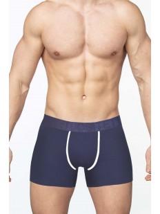 Синие мужские трусы боксеры из хлопка без боковых швов