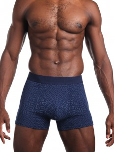 Синие мужские трусы боксеры с принтом без боковых швов