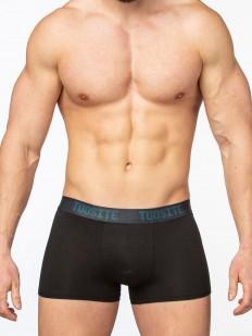 Черные мужские трусы боксеры из вискозы без боковых швов