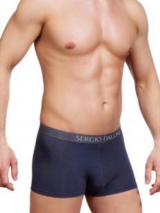 Темно-синие мужские трусы боксеры с фирменным поясом