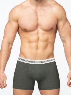 Мужские удлиненные трусы боксеры из хлопка серого цвета