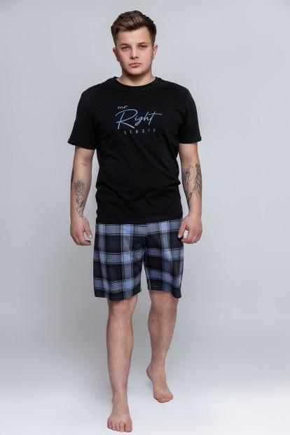 Мужская пижама с шортами в клетку Sensis MAGNUS - фото 1