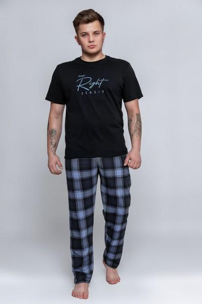 Мужская пижама со штанами в клетку Sensis VICTOR - фото 1