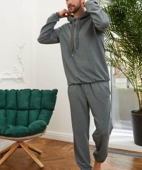 Домашние мужские брюки зеленого цвета в спортивном стиле