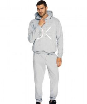 Спортивные мужские брюки джоггеры из хлопка серого цвета