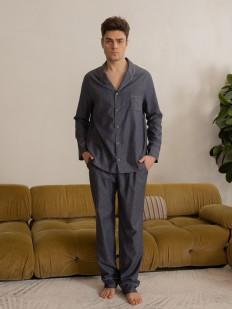 Мужские пижамные брюки из легкого хлопка