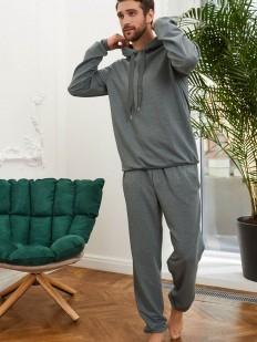 Зеленая мужская толстовка с капюшоном