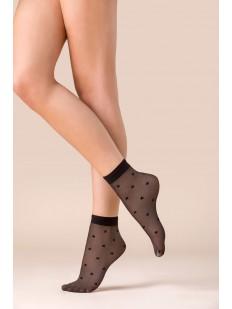 Капроновые черные женские носочки со звездами