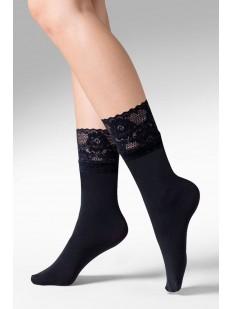 Высокие женские носки с кружевной резинкой