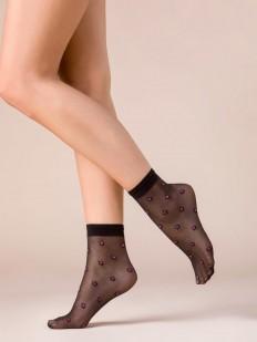 Женские черные носки с розовыми неоновыми звездочками