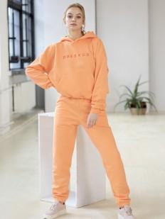 Светло-оранжевые женские джоггеры с завышенной талией
